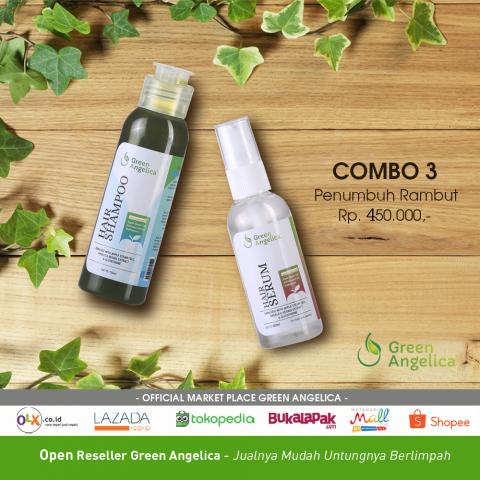 Foto: Paket Combo 3 Green Angelica Mencegah Rambut Rontok Berlebih