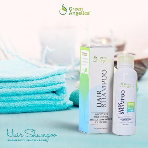 Foto: Hair Shampo Green Angelica Penumbuh Rambut Cepat Dan Lebat
