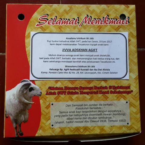 Foto: Aqiqah Murah di Bandung di Rumah Aqiqah Murah Dapur Aqiqah