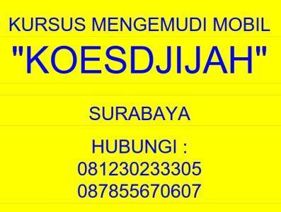 Foto: Kursus Mengemudi Mobil Koesdjijah Surabaya
